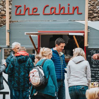 Delicious streetfood from  The Cabin . Tacos, wings & burgers