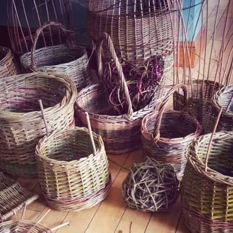 Karen Bek  will be holding willow weaving workshops (small items such as bird feeders, fish, dragonflies) .