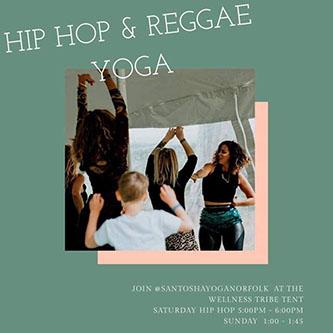 Emily of  Santosha Yoga  returns with high-energy hip hop and reggae yoga.