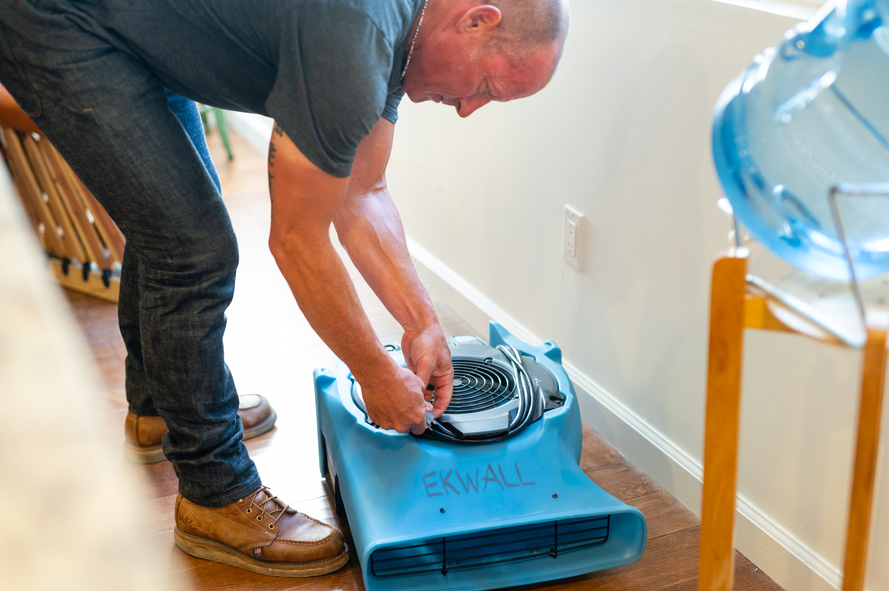 Special drying process guarantees full restoration -