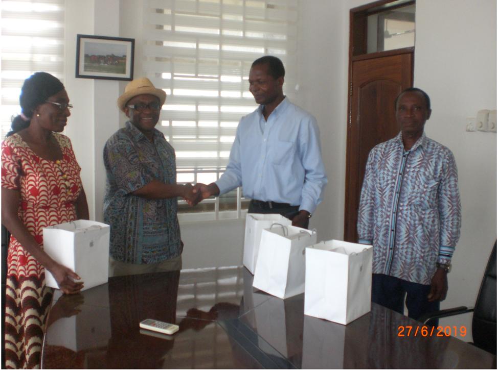 Mr. John Asante Bawuah, Mr. Charles Okyere, Mrs. Juliana Ackah, Mr. Joseph Fokuo, and I