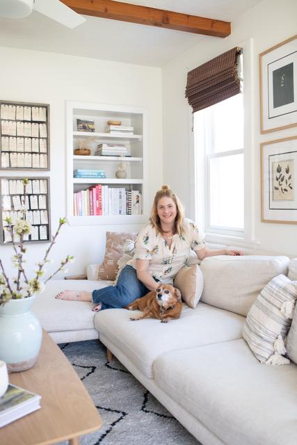 Leila Shag Carpet, Lulu and Georgia ,  Custom Maxwell Sofa, Interior Define  Emily Starr, of  mStarr Design  // Photo:  Jessica Delaney