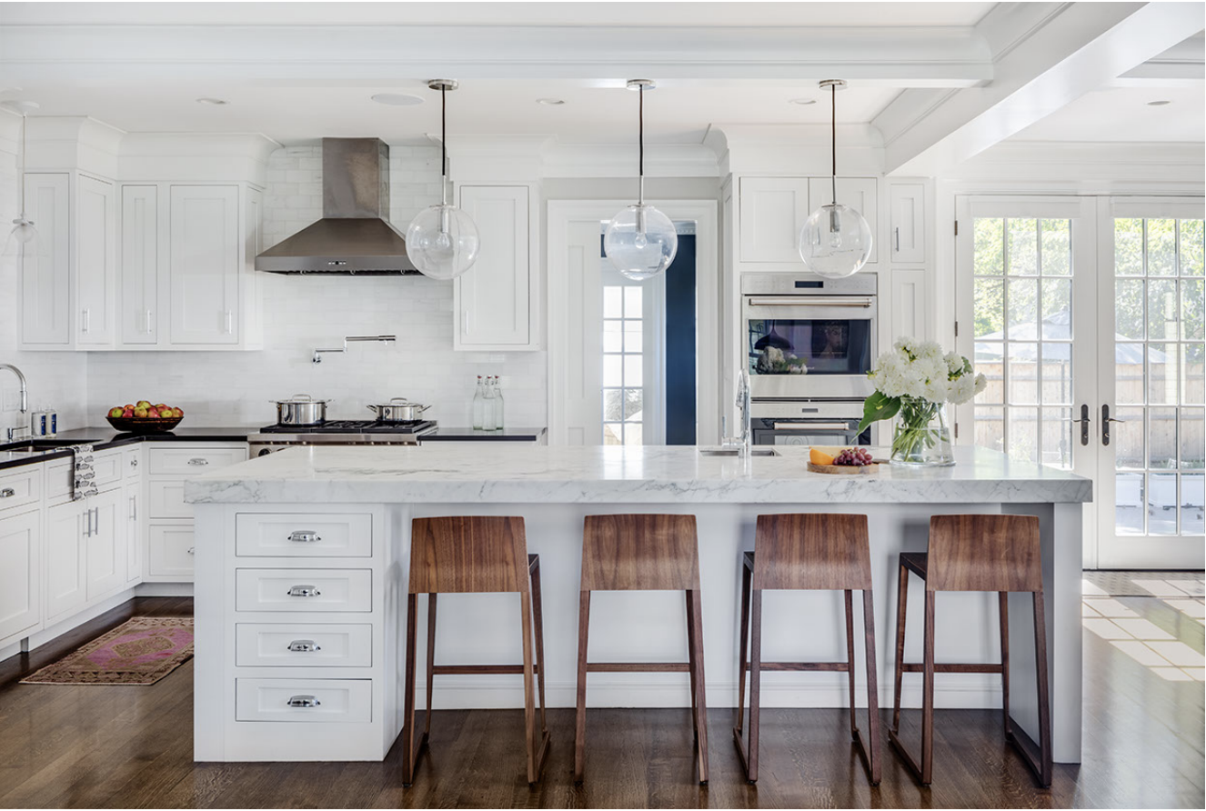 Kitchen. Stools: Hannah Counter Stools by    Osidea Furniture   . Architecture by Carter Williams,    LDa Architecture + Interiors    // Interiors by Lindsay Bentis,    Thread Interiors    // Photo:    Greg Premru