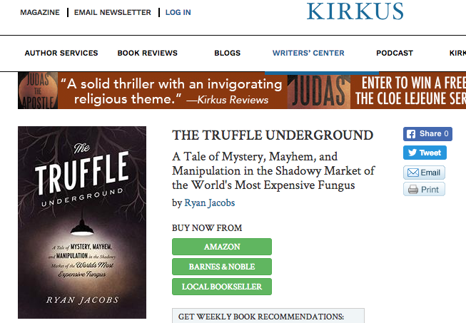 """""""an entertaining, revealing,"""" and """"deftly crafted tale of obsessions and true crime in the culinary world.""""—Kirkus Reviews (April 8, 2019). -"""
