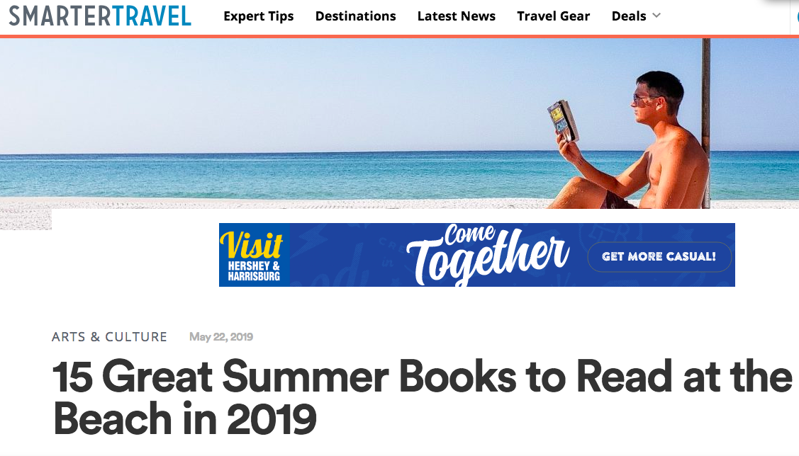 """""""15 Great Summer Books to Read at the Beach in 2019""""—SmarterTravel (May 22, 2019) -"""