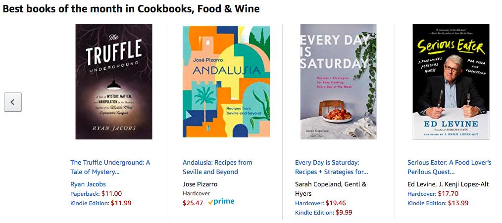 """Best Books of the month in Cookbooks, Food & Wine""—Amazon Editors' Picks (June) -"