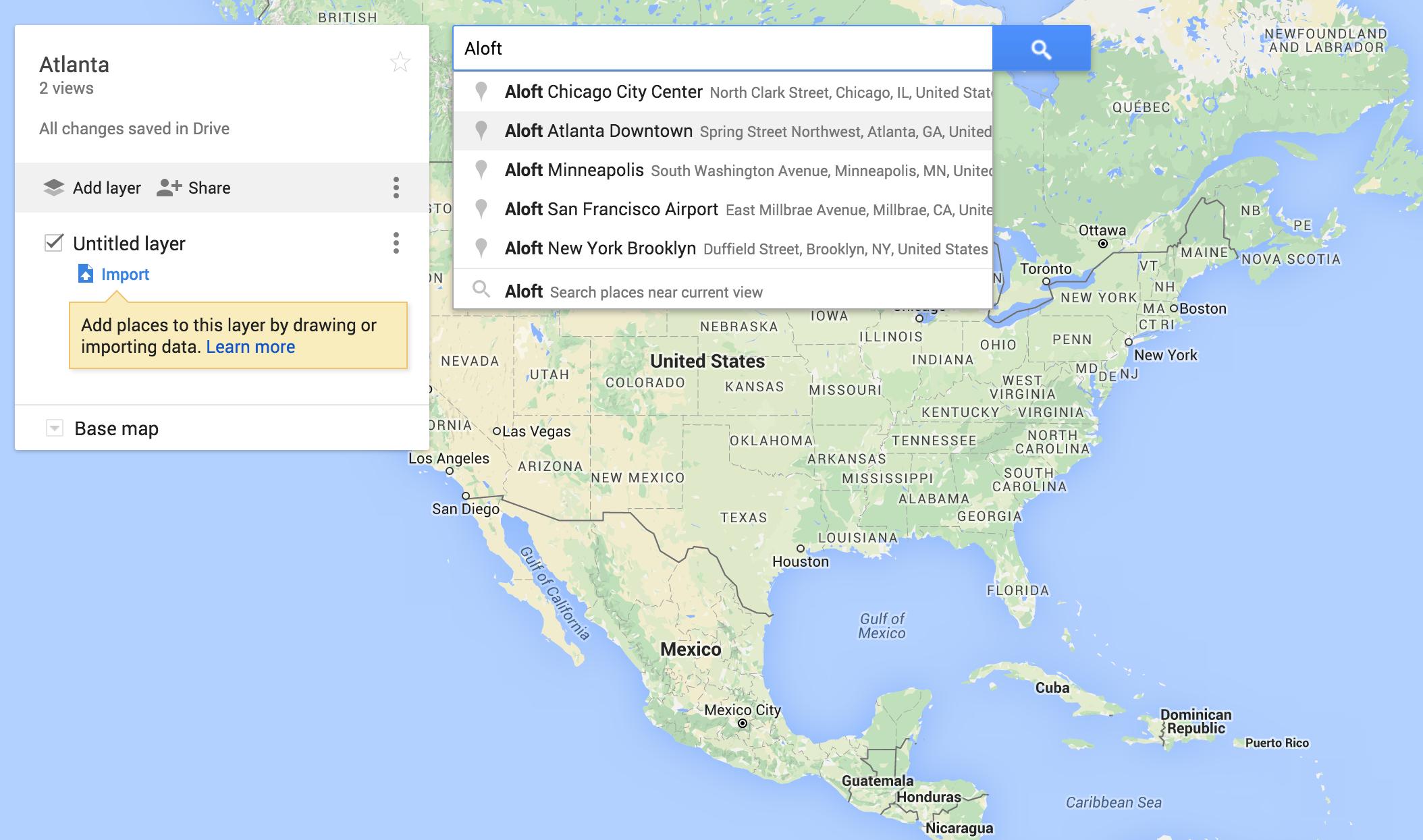 Rachel Travels - Google Maps - Add Locations
