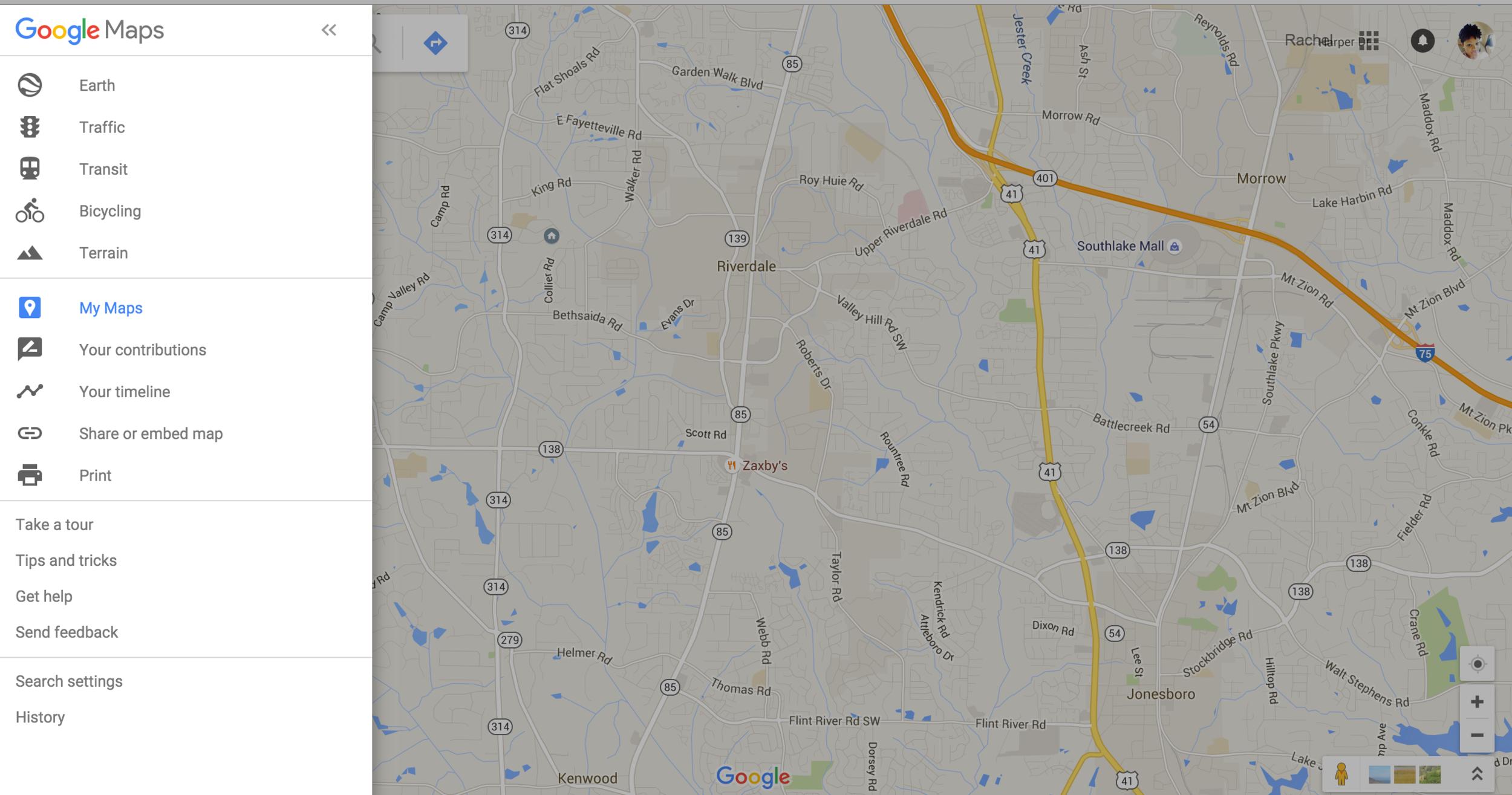 Rachel Travels - Google Maps - Navigate to Google Maps
