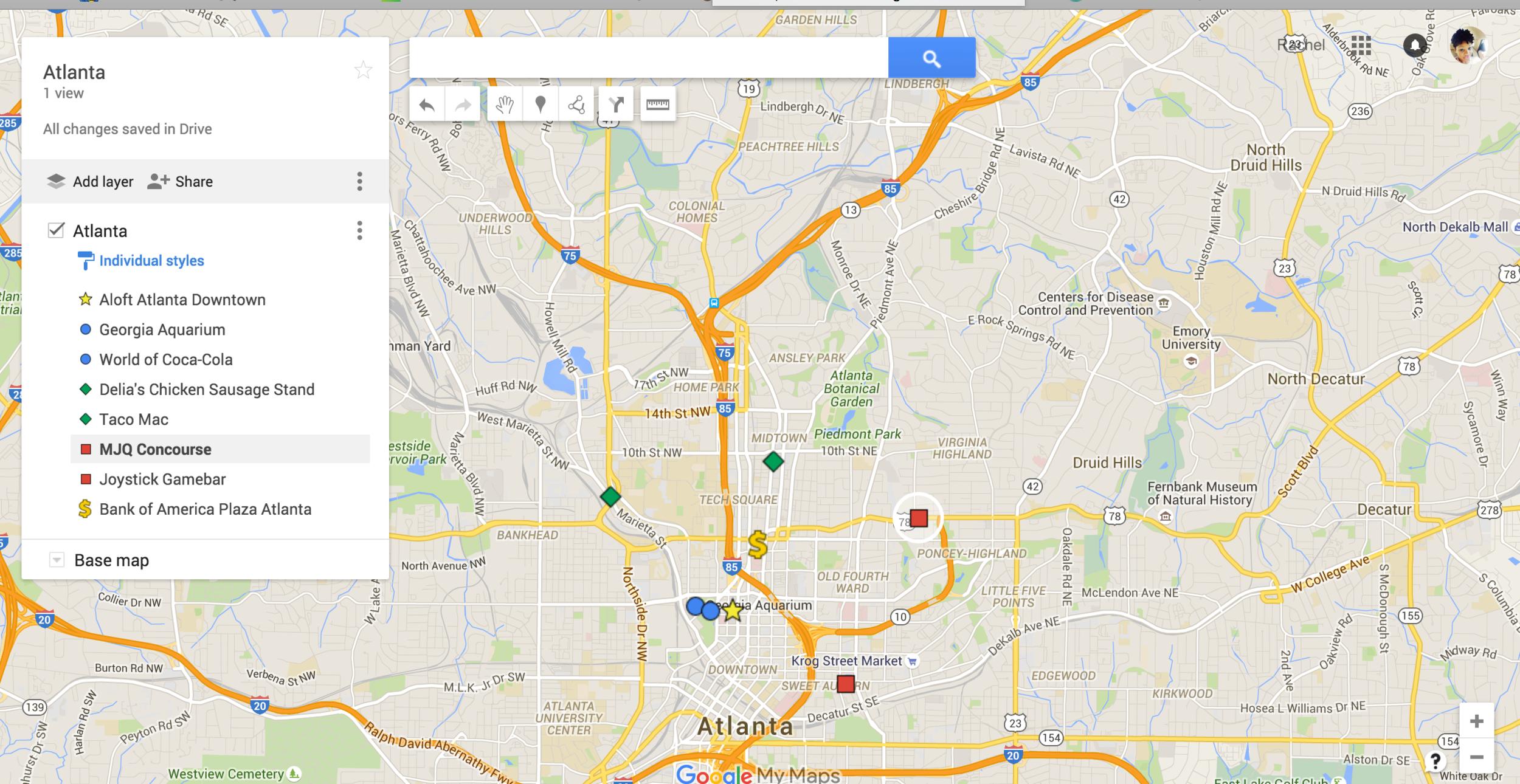 RachelTravels - Google Map - Full View