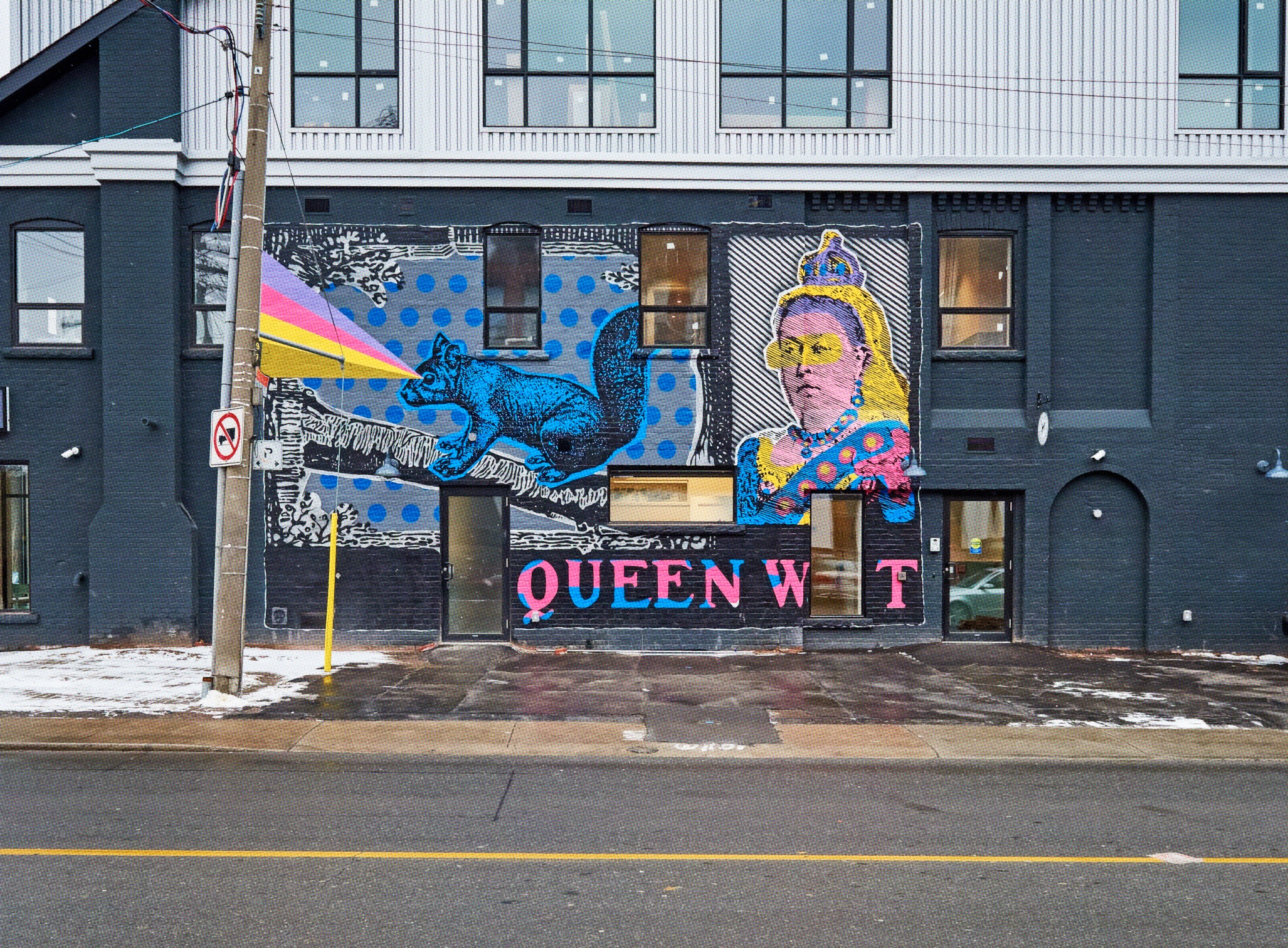 - Electric Coffin created a mural to identify the location and celebrate the artistic neighborhood.