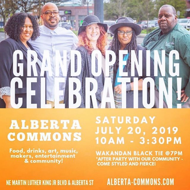 T O M O R R O W 🤜🏽♥️🤛🏿 . Years of hard work, magic, and reclaiming what has always been ours. Come celebrate #dreamstreetpdx and the official launch of Alberta Commons with our community. #pdx #pdxnow #portlandsummer #mlk #blackbusiness #pocentrepreneur