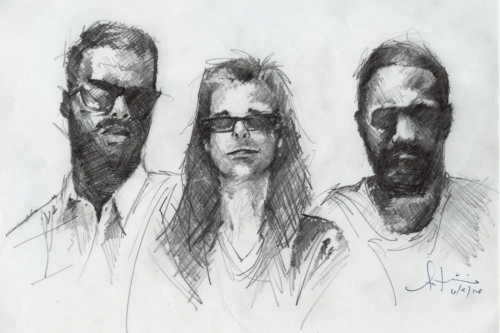 L - R: Antwan, Nigel and Earlonne. Illustration by Antwan Williams.