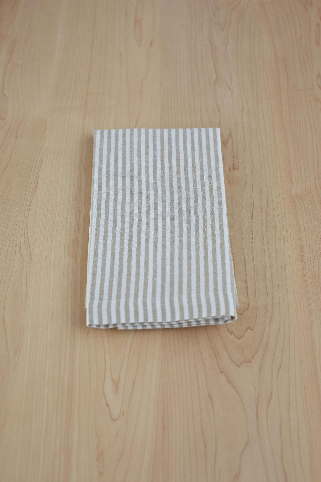 Mini Stripe in Flax Napkin.jpg