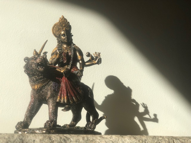 Statue of Durga from Ram Dass's altar.