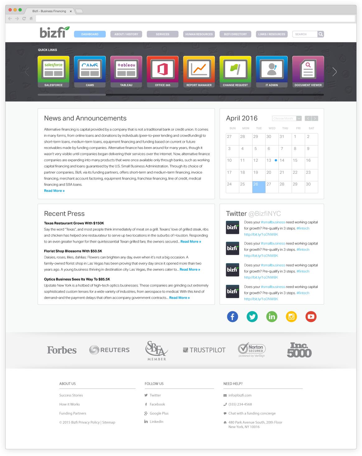 Internal Resource Website