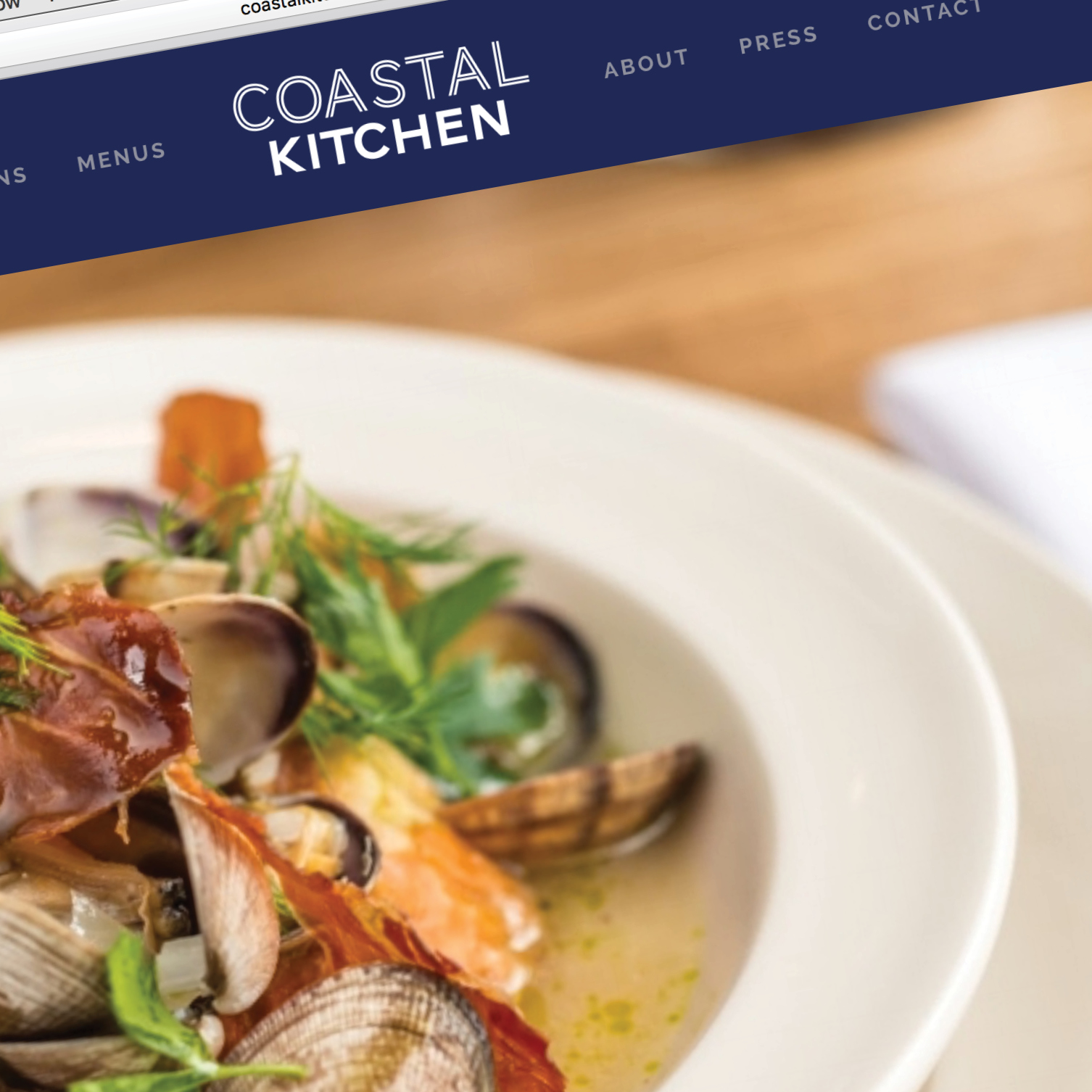 Coastal Kitchen Website