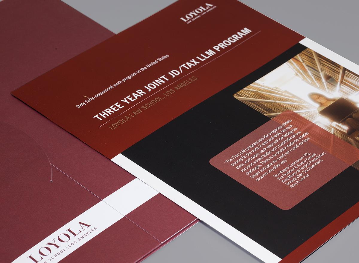 Loyola Law School Tax Brochure & Presentation Folder