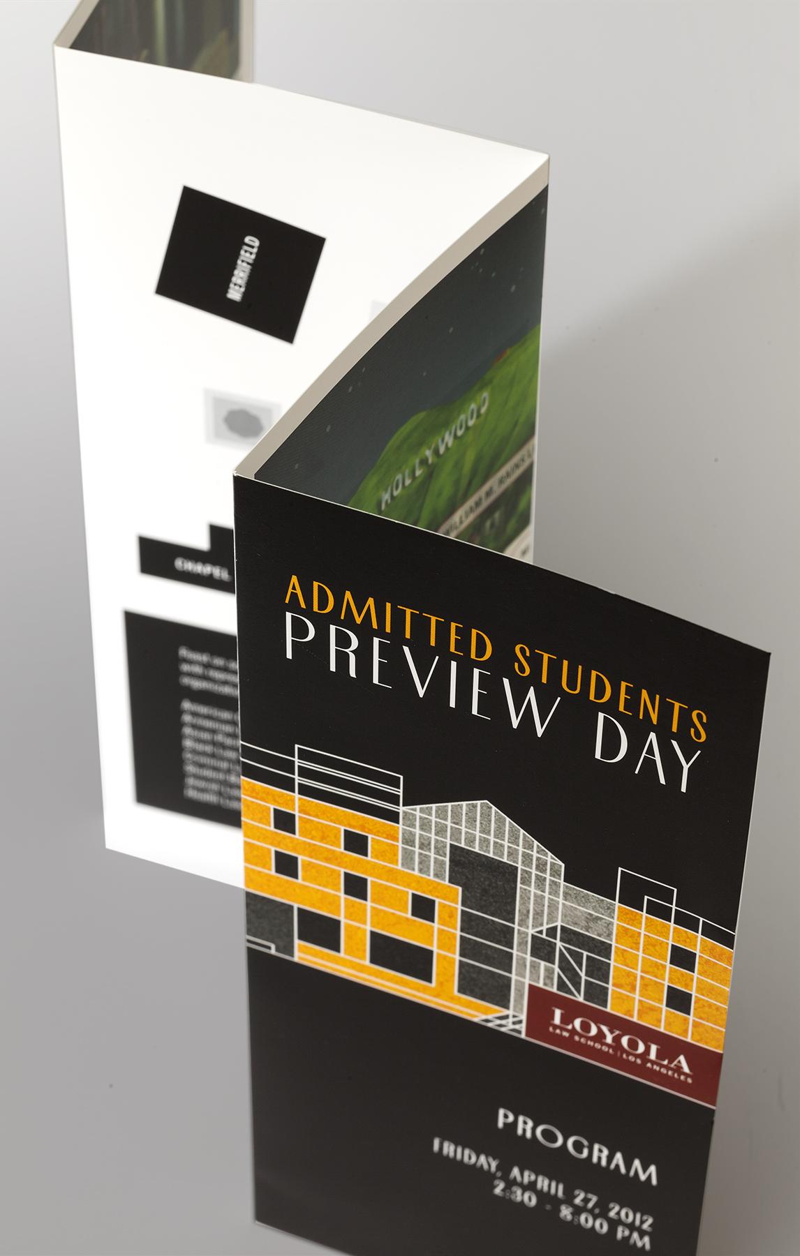 Loyola Law School Preview Day Brochure