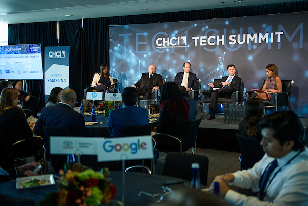 CHCI Tech Summit Stage Backdrop & Podium