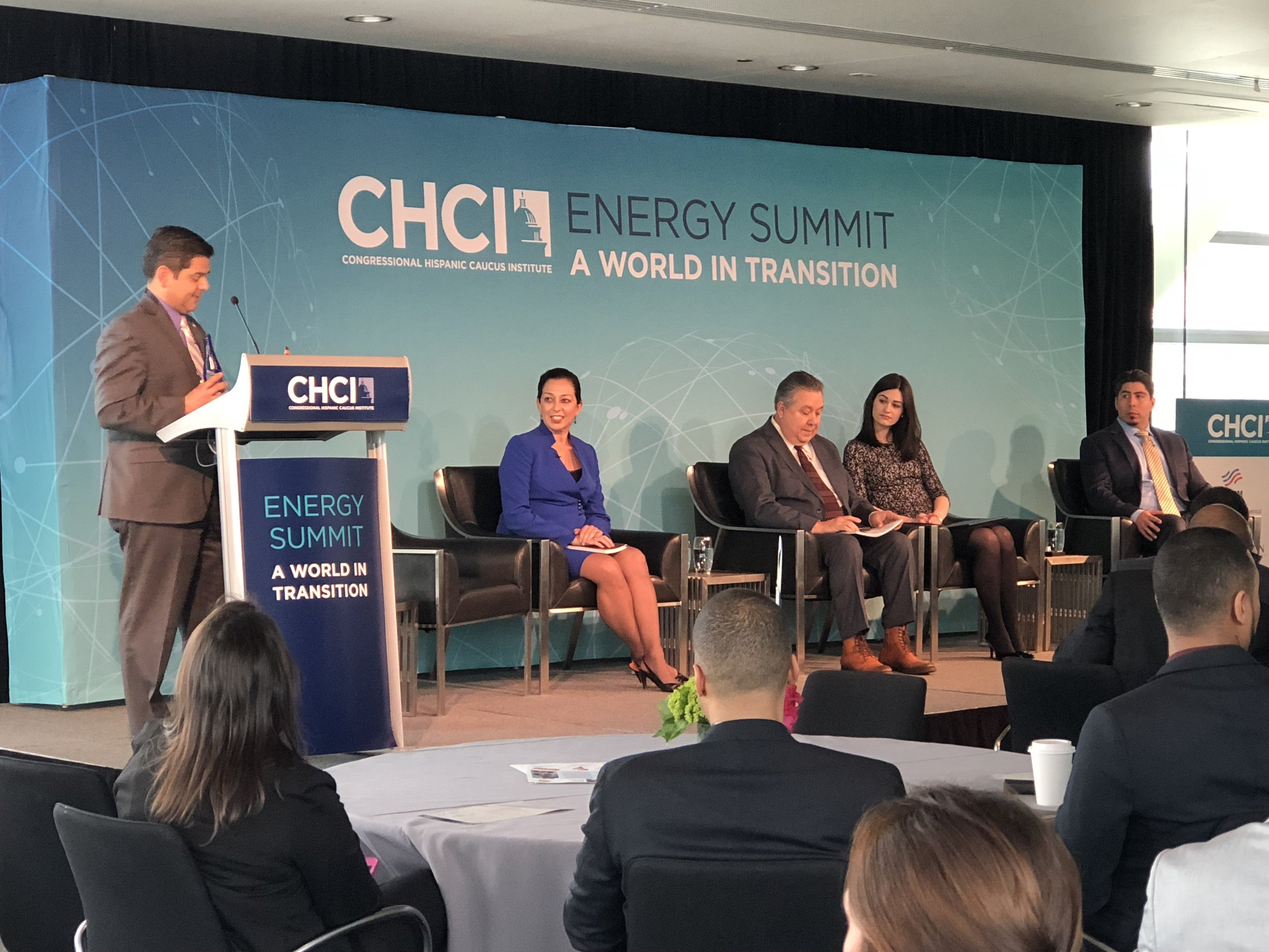 CHCI Energy Summit Stage Backdrop & Podium