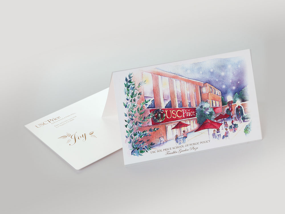 USC Price School Holiday Card