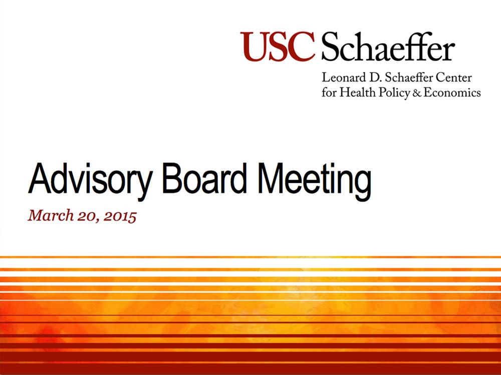 USC Schaeffer Opening Slide