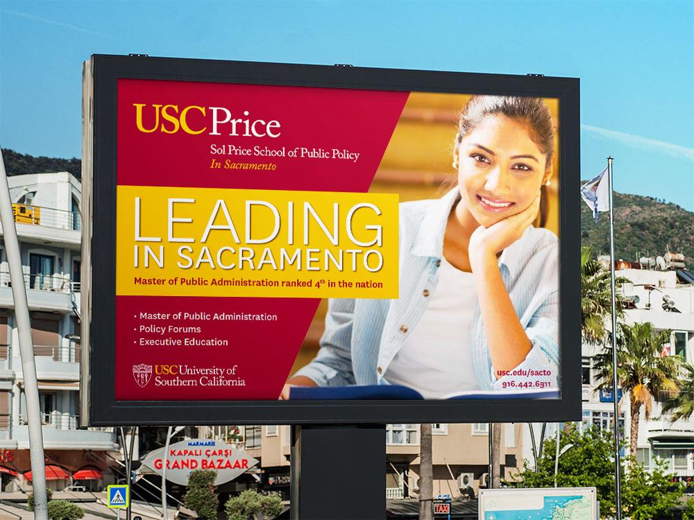 USC Price School Sacramento Billboard