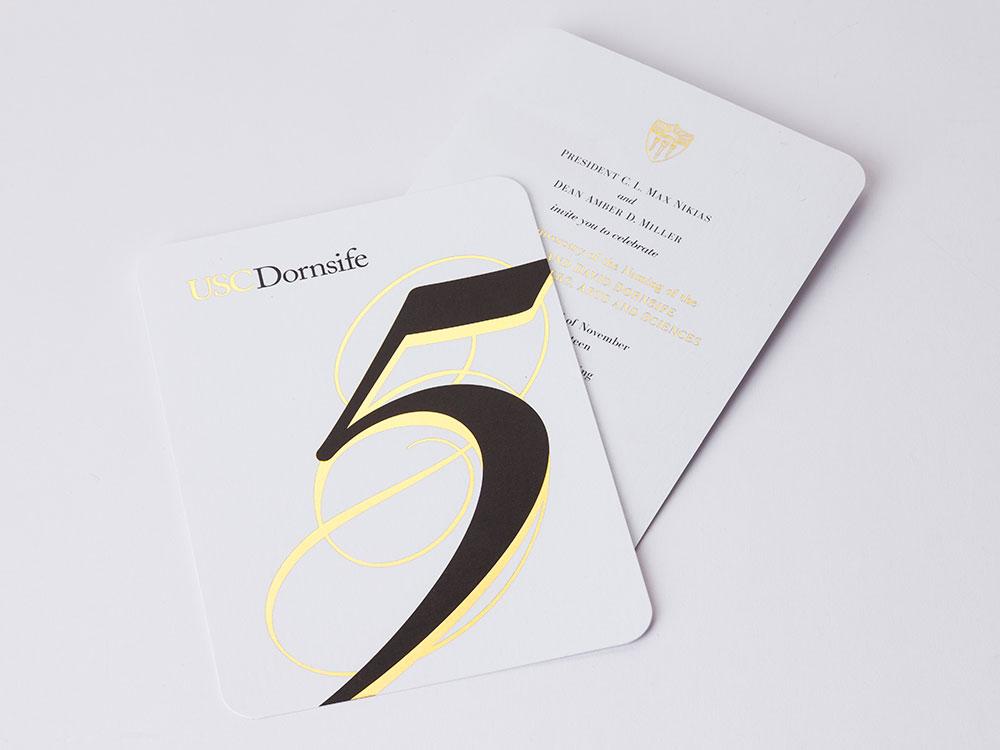 USC Dornsife 5 Year Anniversary Invite
