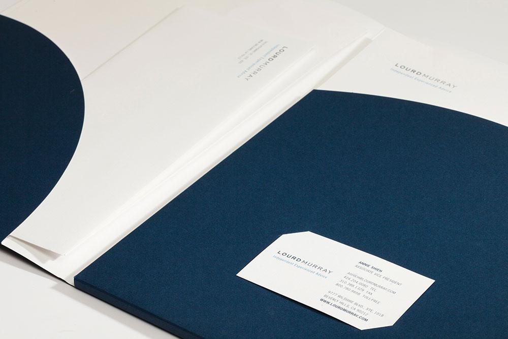 Lourd Murray Corporate Identity & Presentation Folder