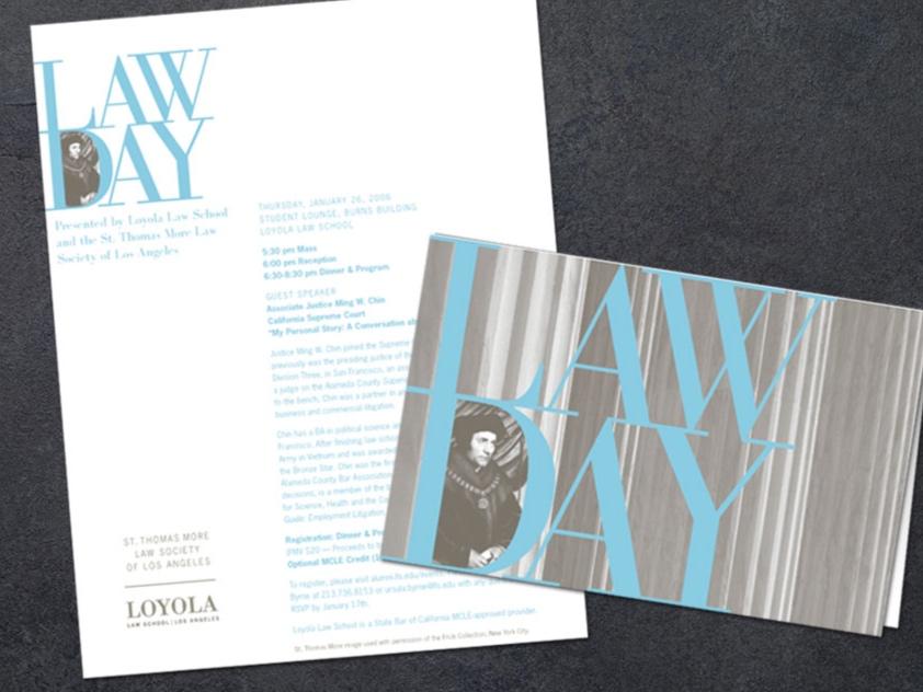 Loyola Law School Law Day Invite