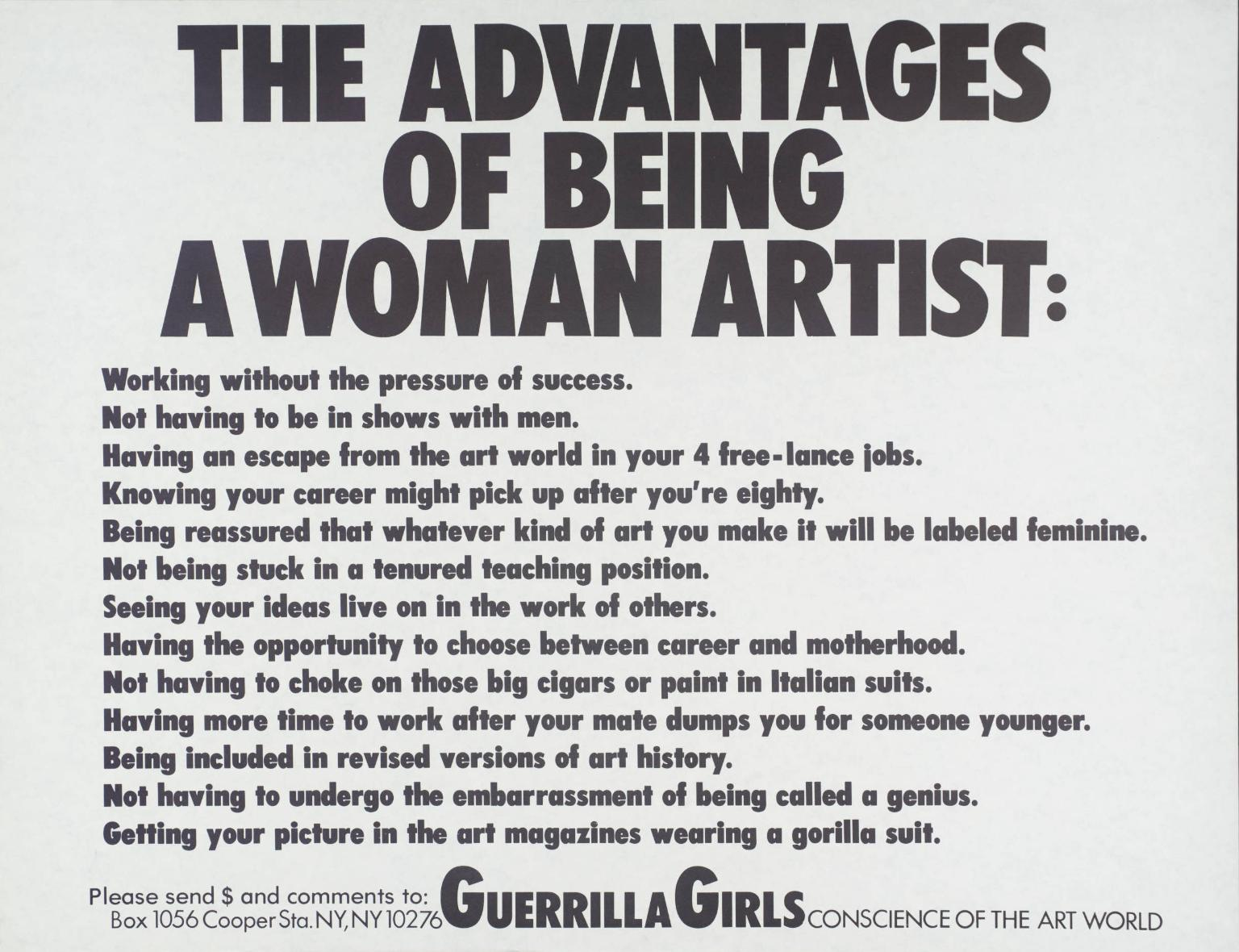 The advantage of being a woman artist .jpg