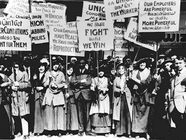 Women Labour Movement 1912 Massachusetts - Credit to The Mary Sue