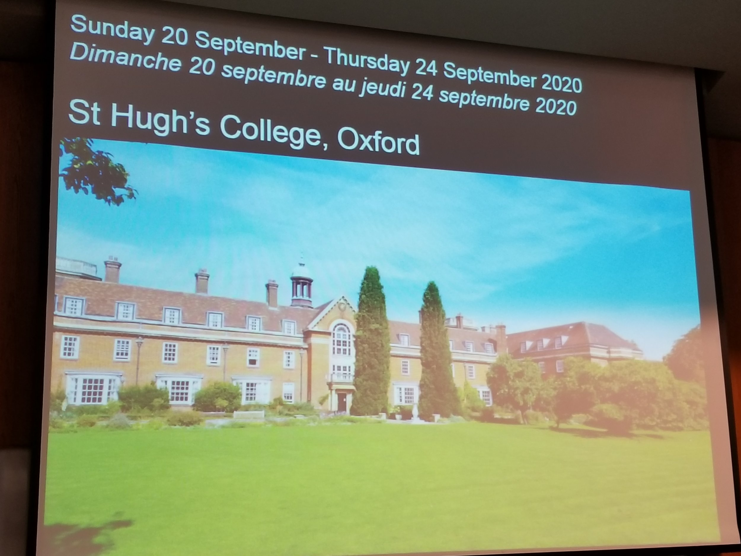 Announcement of the next biennial meeting of the Society of Africanist Archaeologists to be held at St. Hugh's College, University of Oxford from September 20 to September 24, 2020.