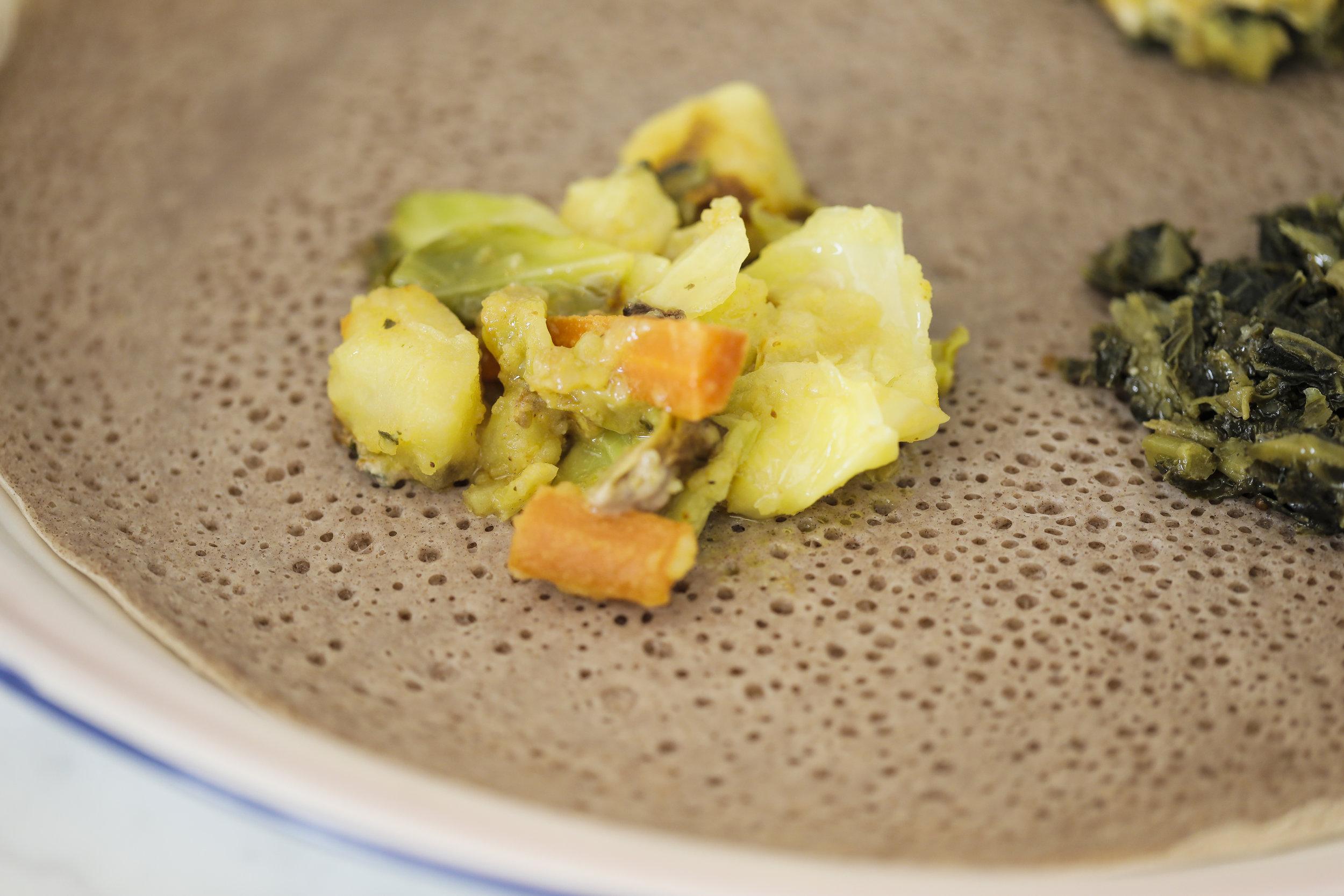 Alicha: cabbage, potatoes and carrots