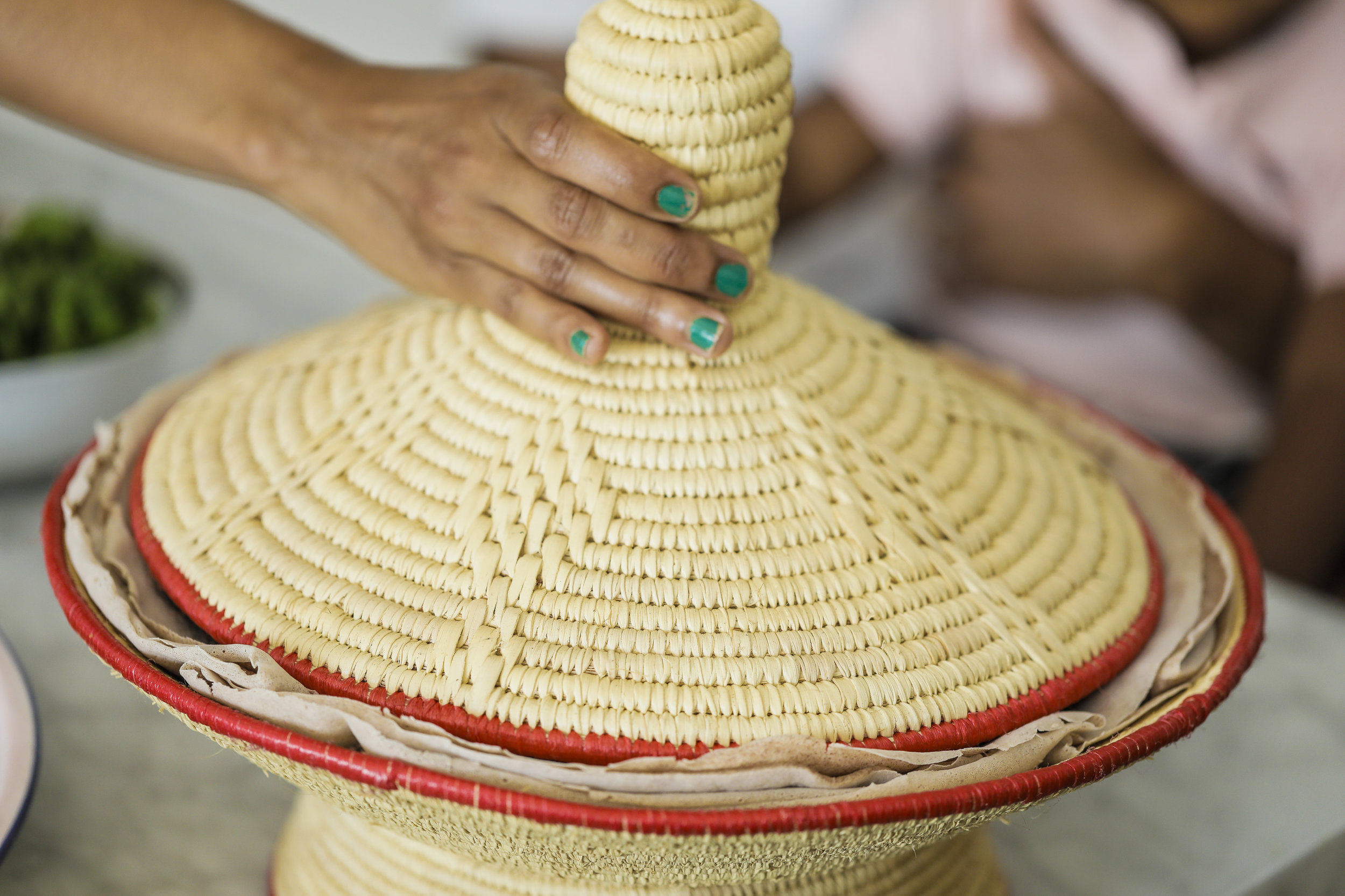 The Mesob: a beautiful traditional breadbasket,  considered a symbol of unity and prosperity