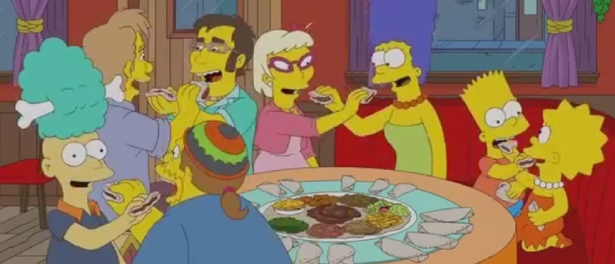 Even the  simpsons  got in on the gursha action!