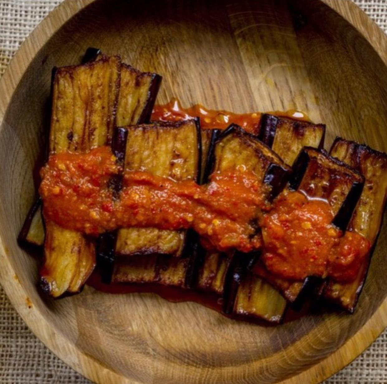 Terong Sambal Kemangi / Eggplant in Basil Sambal