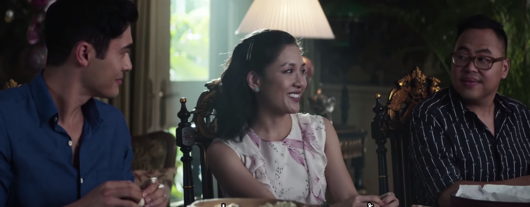 screenshot from Crazy Rich Asians - youtube