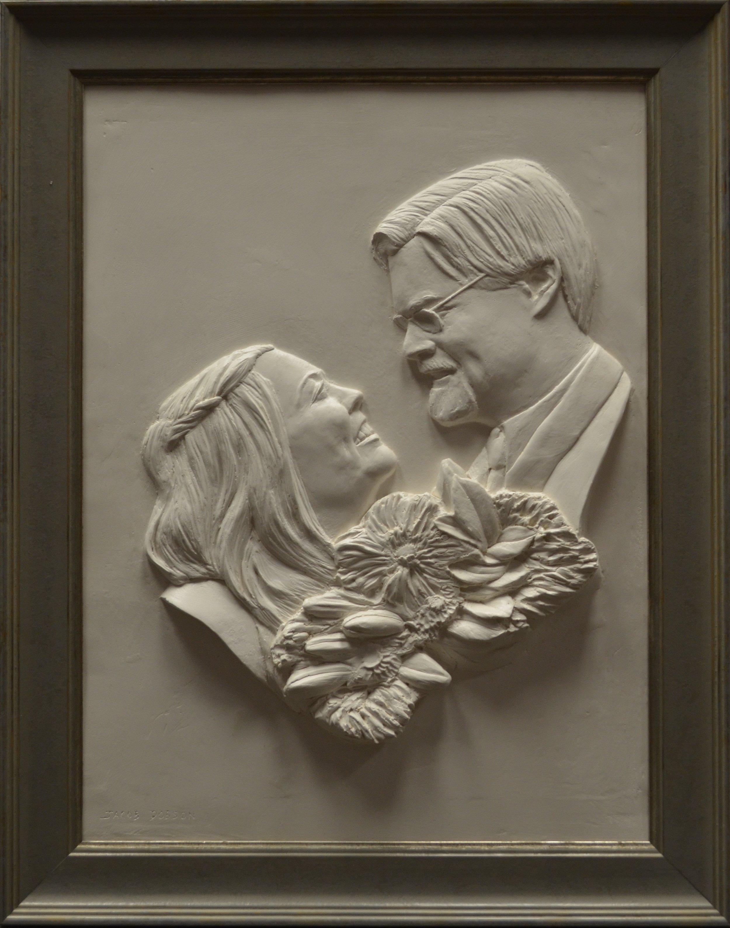 "Steve and Jessica Bays    Hydrocal Plaster  18"" x 24"""