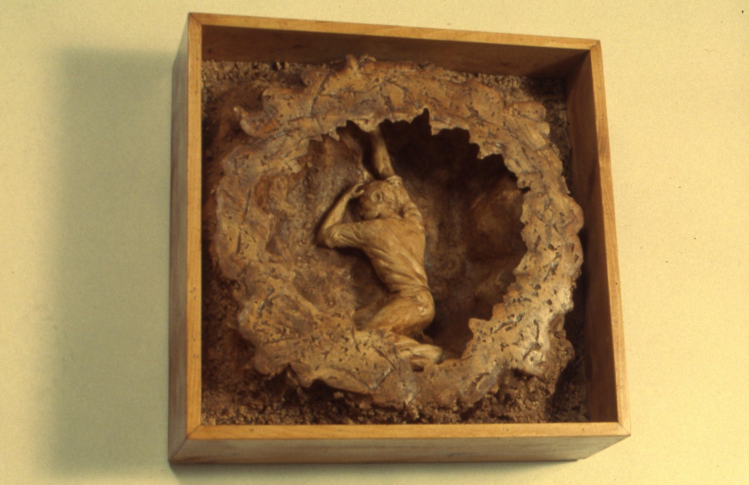 "Clay Origins   Ceramic and Wood  24"" x 24"""