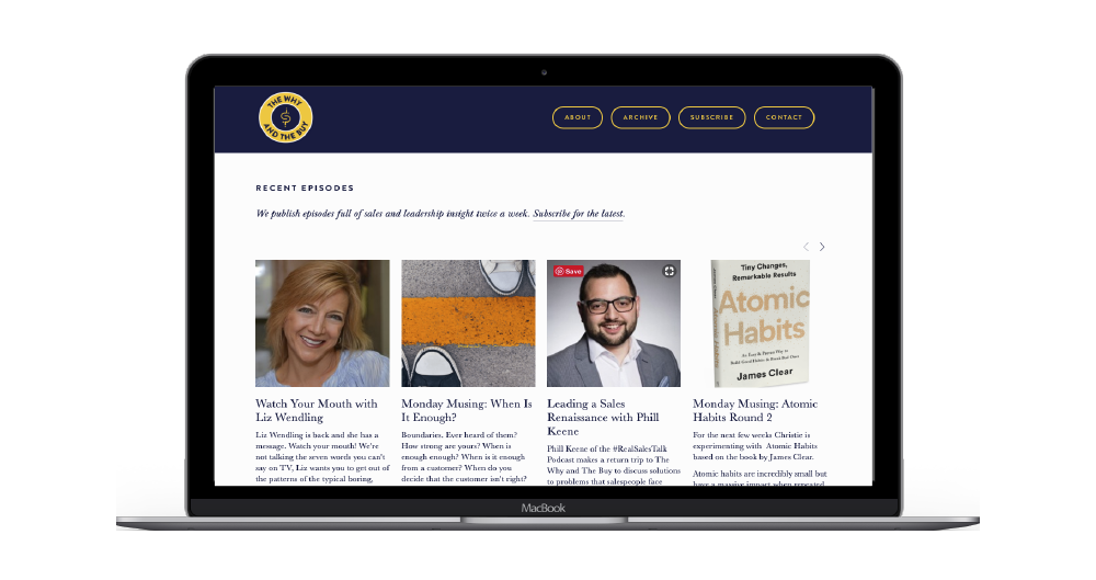 Podcast Website Design and Development