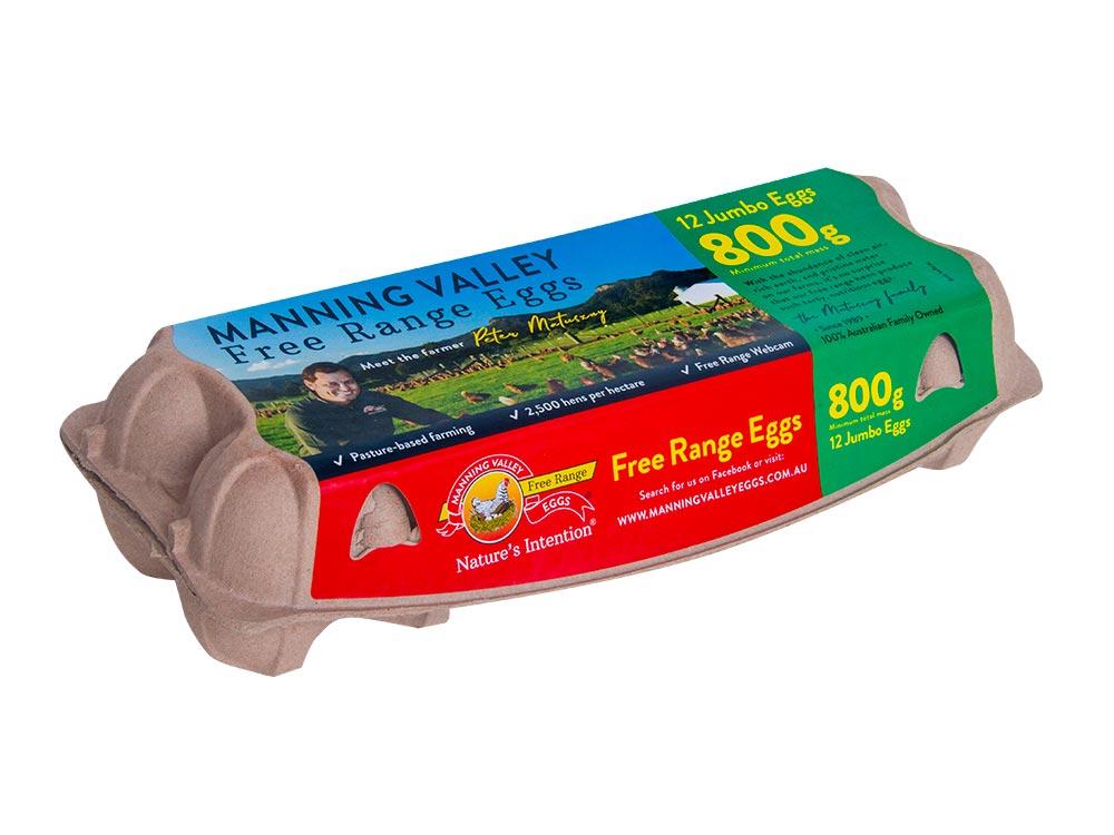Jumbo 800g 12 egg pack