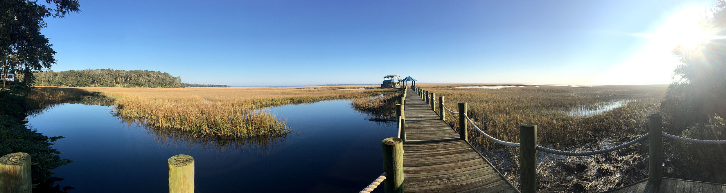 PHOTO: Our location…overlooking a tidal marsh, Florida coastline.