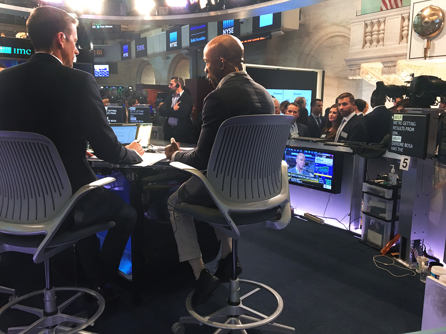 PHOTO: CNBC Closing Bell market recap live broadcast. April 16, 2019.