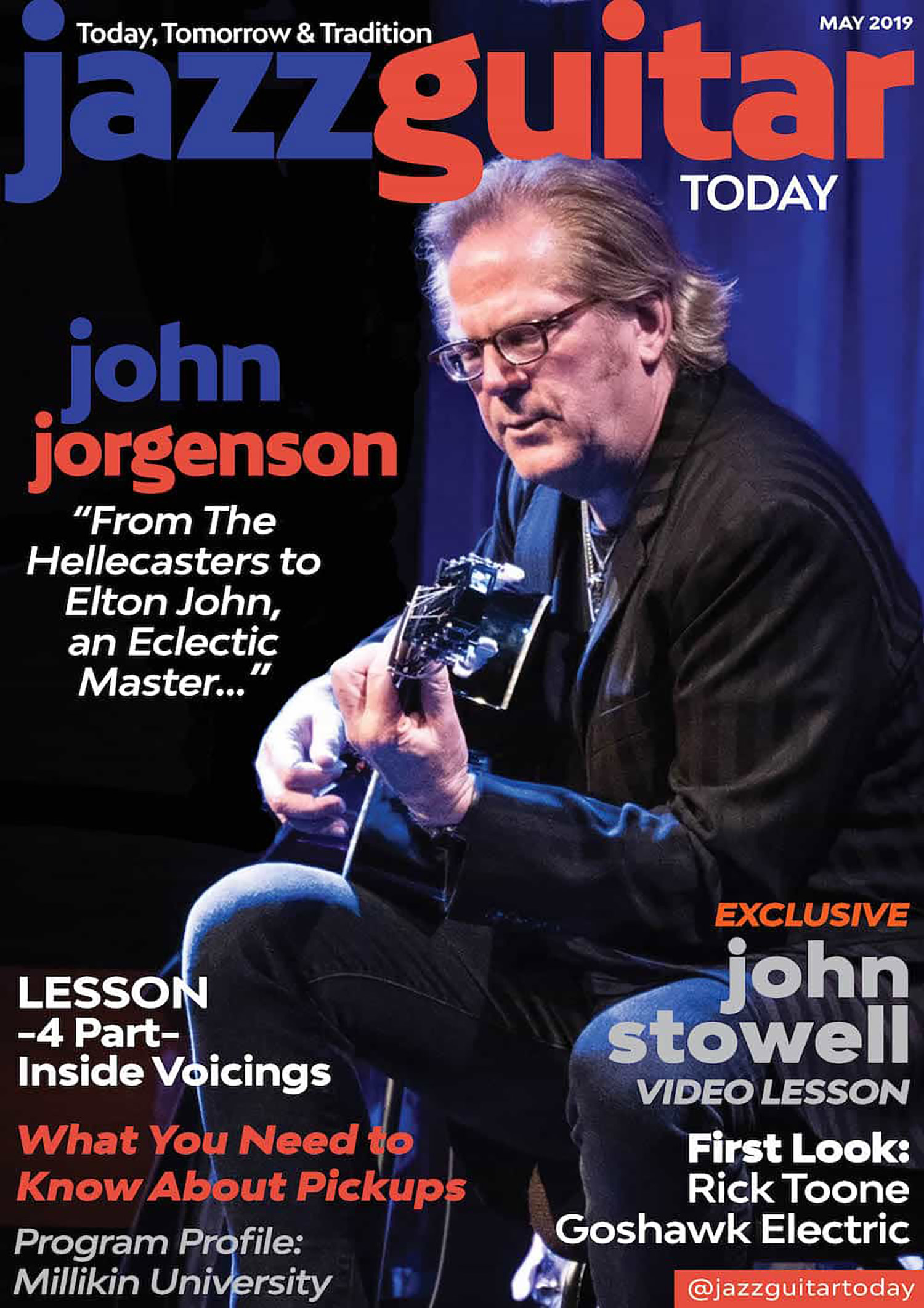 IMAGE: Goshawk™ 6-string electric is featured in   May 2019 issue of   Jazz Guitar Today Magazine  .