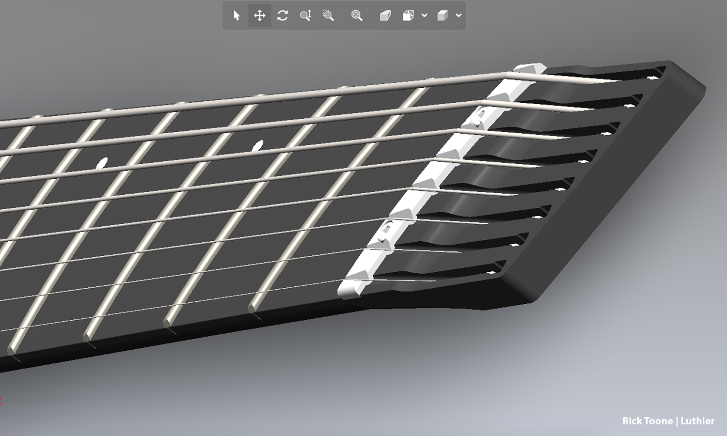IMAGE: Ball-ends drop in effortlessly and anchor securely on the 8-string Element™ neck.