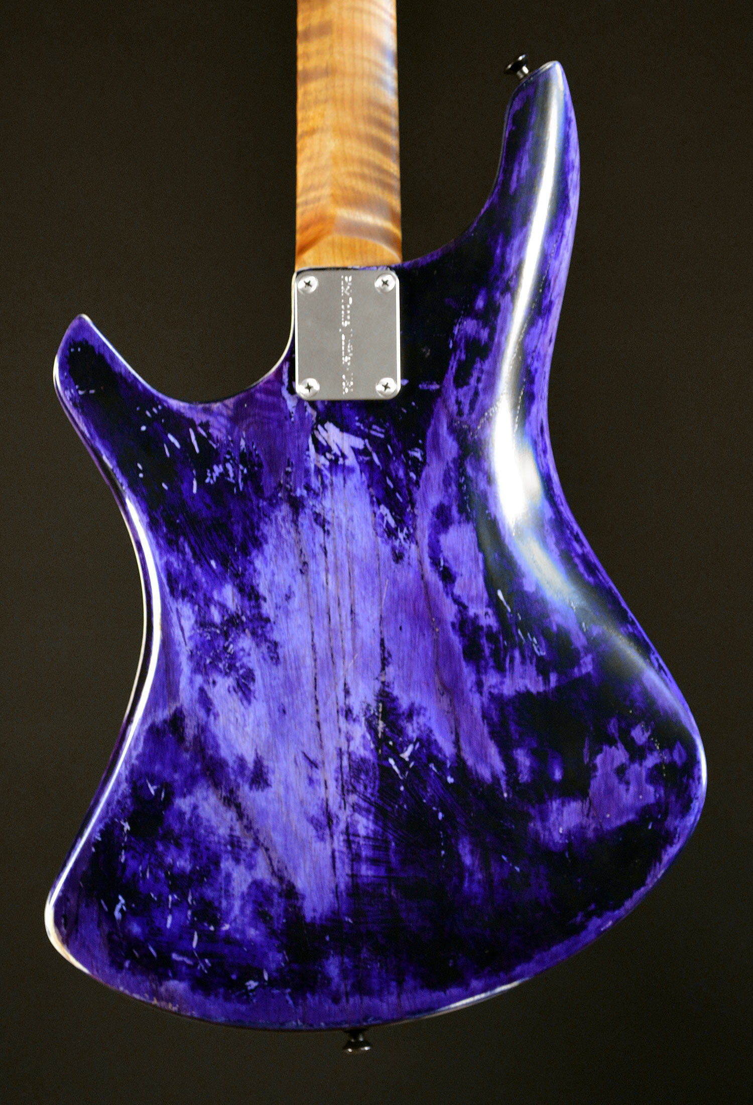 PHOTO: Proprietary Advantage™ neck profile roasted figured flame maple.