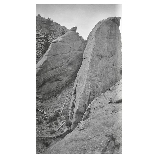 "Much of the center part of the album is landscape views and I'm not always sure if they're correctly labeled. I may start to skip around a bit... Negative numbers 31&32 from the Rocky Mountain Nat. Park Album - 1924 Captioned, ""Long's Peak"" #foundphoto #snapshot #familyslideshow #longlivefilm #nationalparks #rockymountainnationalpark  #vacationpic #thatview #takeahike #longspeak"