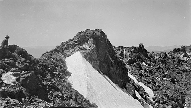 "Negative number 86 from the Rocky Mountain Nat. Park Album - 1924 Captioned, ""The Glacier (Pop)"" #foundphoto #snapshot #familyslideshow #longlivefilm #kodak #nationalparks #rockymountainnationalpark  #estespark #glacier #viewfromthesumit #vacationpic #thatview #takeahike"