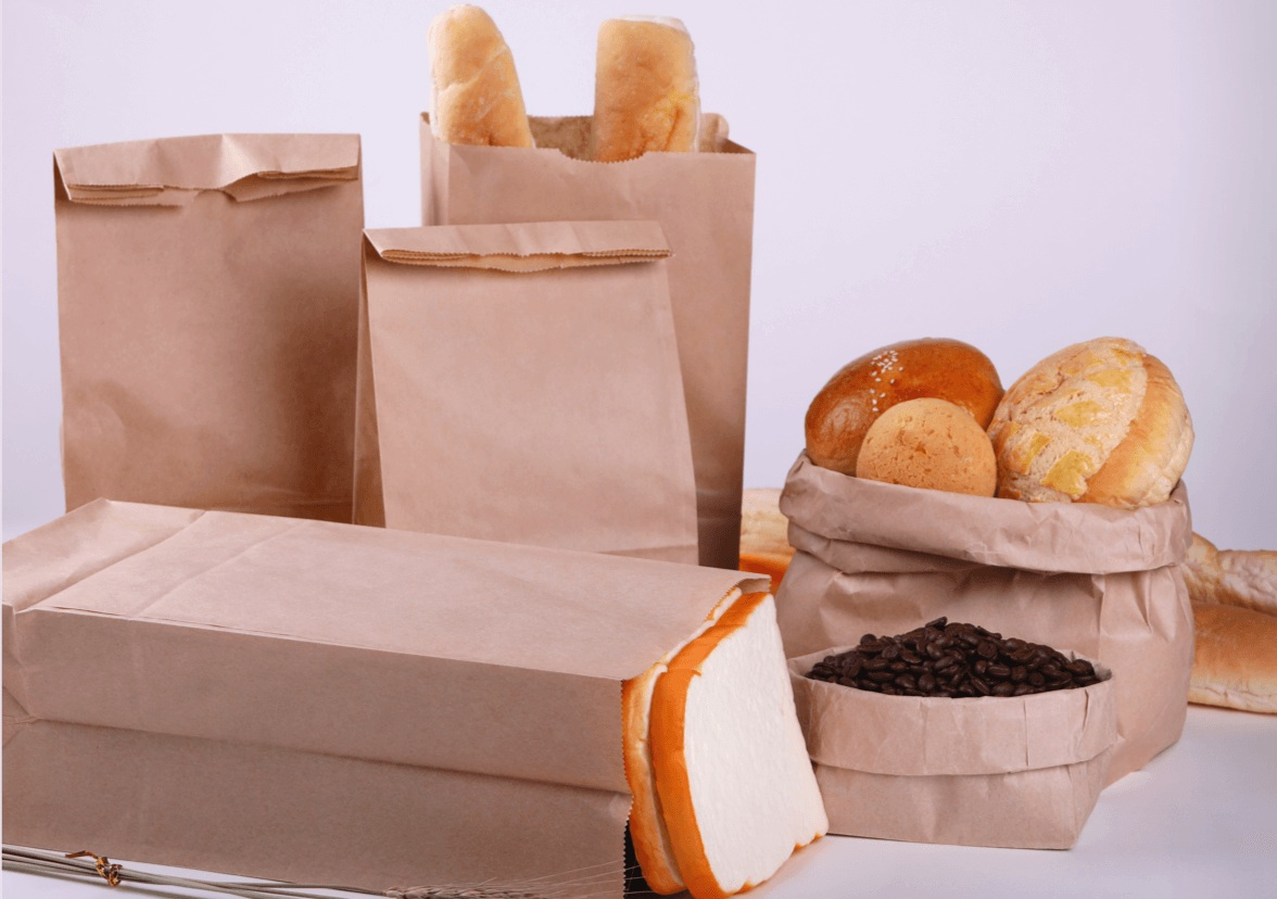 - Take your marketing beyond the walls of your establishment! Let your customers spread your message for you with custom printed paper bags.These high quality paper bags are perfect for bakeries, cafes, coffee shops, or as to go bags for any restaurant. With a wide variety of sizes available, you'll be able to find a bag perfect for your needs.